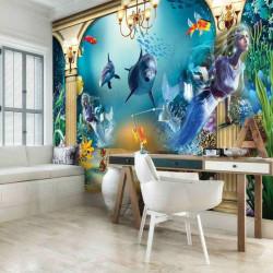 Under the sea life, kids room wallpaper - 13285