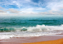 Bright colors wall image of beach - 13034