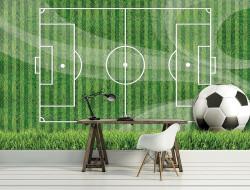 Football field wall mural for kids - 3387