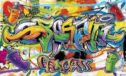 Graffiti style wallpaper - 1400