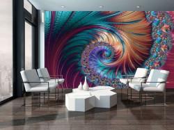 hypnotic spiral wist shiny elements walldecor - 11706