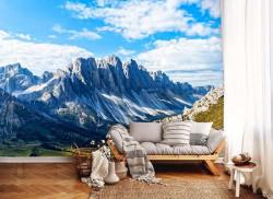 Mountain ridges, mountain top blue sky wallpaper - 12997