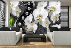 Orchid design wall mural - 2973