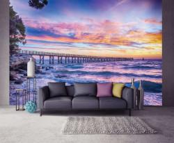 Sunset on the beach wall decor photo - 10514