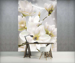 Tender floral photowall white accents - 3508A