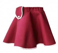Fusta closh culoare rosu, fete 4-12 ani