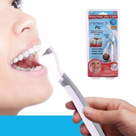 Устройство за почистване на зъби със звуков ултразвук и лед светлина Sonic pic