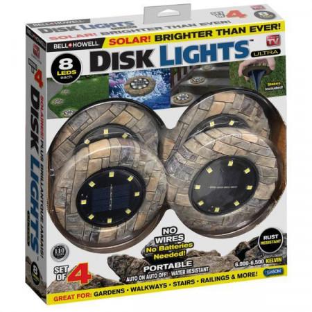 Градински Соларни Лампи Disk Lights