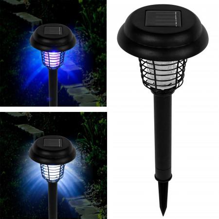 Соларна UV LED лампа 2в1 против комари