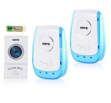 Безжичен звънец VOYE с два приемника
