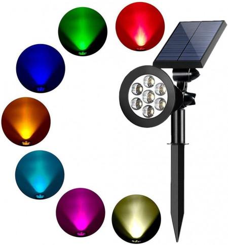 LED Градинска Соларна лампа със 7 цвята