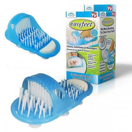 Почистващи и ексфолиращи чехли за баня Easy Feet