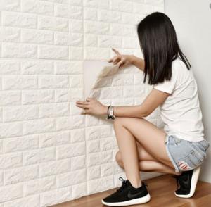 Самозалепващ тапет 3D тухла Brick Wall
