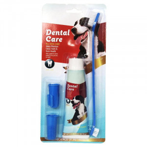 Комплект четка и паста за зъби за кучета