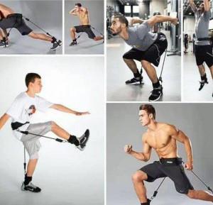 Еластични фитнес ластици за упражнения Vertical High Jump Trainer