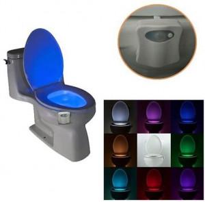 Осветление за тоалетна чиния със сензор за движение