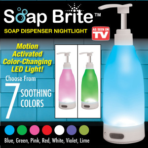Светещ диспенсър за сапун Soap Brite