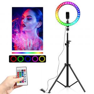 Led трипод Selfie Ring Multicolor 10 инча