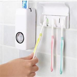 Диспенсър за паста за зъби + стойка за 4 броя четки за зъби