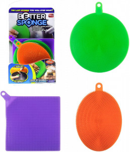 Комплект 3 броя силиконови гъби за почистване Better Sponge