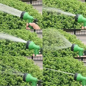 Разтегателен градински маркуч с пистолет за поливане
