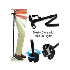 Иновативен сгъваем бастун с лед фенер Trusty Cane
