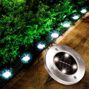 Градинска Led соларна лампа Disk Light