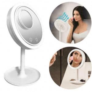 КОМПЛЕКТ Органайзер за гримове 4 дяла Amelly 360° + Охлаждащо огледало Beauty Breeze