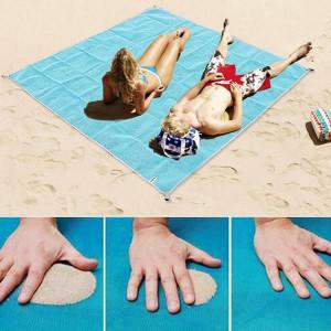 Одеяло устойчиво на пясък с преносима плажна подложка