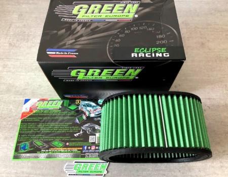 Filtro aria a pannello sportivo GREEN FILTER Clio 1.8 o Williams immagini