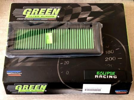 Filtro aria a pannello sportivo GREEN FILTER 106 1.6 16v immagini