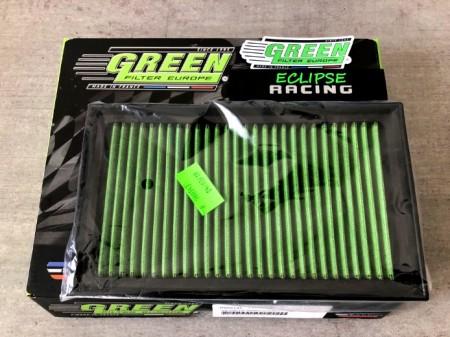 Filtro aria a pannello sportivo GREEN FILTER Clio RS 197 / 203 immagini