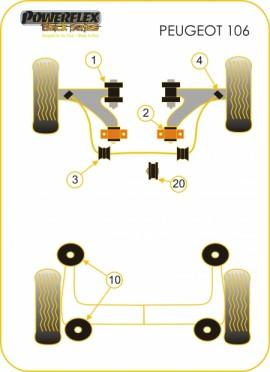 POWERFLEX - Boccole anteriori trapezi anteriori PFF12-101BLK immagini