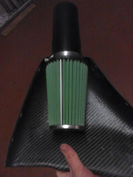 Ricambio filtro aria conico GREEN FILTER per aspirazione Saxo Cup immagini