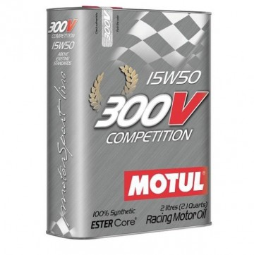 Olio motore MOTUL 300V 15w50 (Competition) Latta da 2L immagini