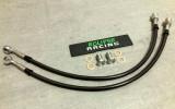 Coppia tubi freno in treccia metallica (2 tubi) per impianti maggiorati Brembo
