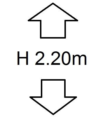 Perdele de Pascani inaltime (H) 2.20m