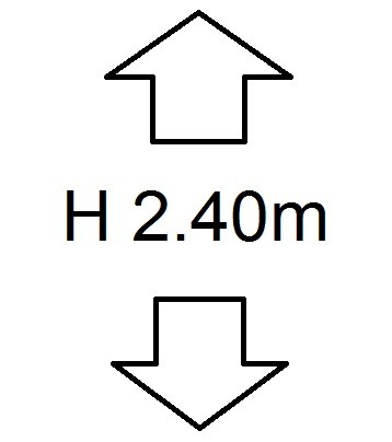 Perdele de Pascani inaltime (H) 2.40m