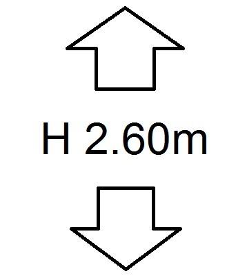 Perdele de Pascani inaltime (H) 2.60m