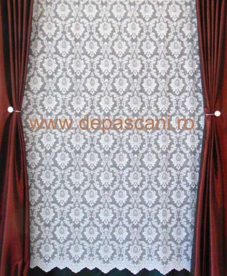 Perdea, model 04014, crem, H 1.80