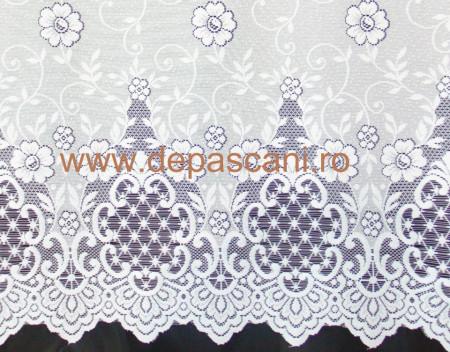 Perdea, model 51259, alb, H 3.00