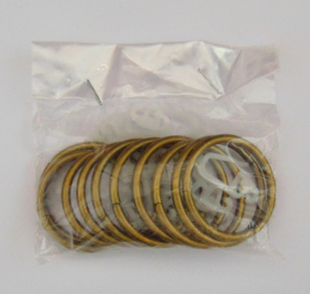 Set inele metal aur antic cu carlige (10buc/set)
