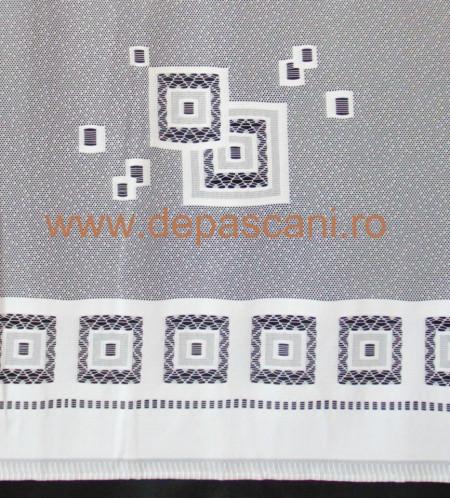 Perdea, model 5879 ,alb, H 2.40