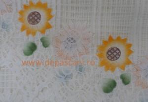 Perdea de Pascani cu bolta FLOAREA SOARELUI 3.15/1.90