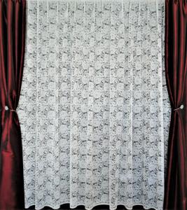 Perdea, model 4020, alb, H 2.80