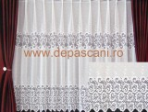 Perdea, model 51199, alb, H 1.60
