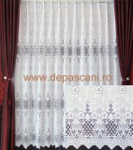 Perdele de Pascani, model 51259, alb, H 3.00