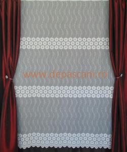 Perdea, model 51306, alb, H 1.80