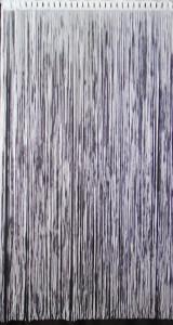 Panou perdea franj pentru usa, model 821522, ALB, 150 x 240 cm