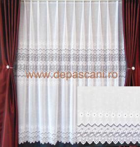 Perdea, model 51147, alb, H 2.20
